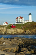 Nubble Light Framed Prints - Nubble Light Framed Print by John Greim