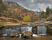 Slide Rock Prints - Oak Creek In Slide Rock State Park Print by Tim Fitzharris