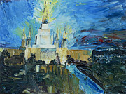Bay Area Paintings - Oakland Temple by Jane Autry