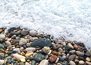 Sea Shore Prints - Ocean Stones Print by Stylianos Kleanthous