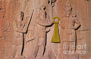 Diety Photos - Ohrmazd, King Ardeshir Ii And Mithras by Photo Researchers