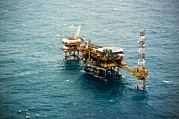 Oil Platform Print by Arno Massee