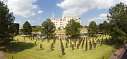 Empty Chairs Photo Posters - Oklahoma City National Memorial Poster by Ricky Barnard