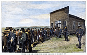 U.s. Army Prints - Oklahoma Land Rush, 1889 Print by Granger