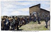 Oklahoma Land Rush, 1889 Print by Granger