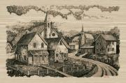 Fredricksburg Prints - Old Church Street Print by Donn Kay