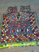 Ethnic Tapestries - Textiles - Old Dress Piece by Dinesh Rathi