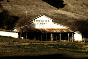 Foothill Prints - Old Foothill Farms in Small Town of Sunol California . 7D10796 Print by Wingsdomain Art and Photography