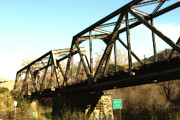 Wingsdomain Art and Photography - Old Railroad Bridge at Union City Limits near Historic Niles District in California . 7D10736