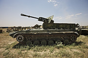 Old Russian Bmp-1 Infantry Fighting Print by Terry Moore
