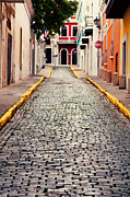 Brick Streets Posters - Old San Juan Puerto Rico Poster by Kim Fearheiley