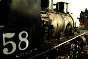 Steam Dreams Posters - Old Steam Locomotive Engine 1258 . 7D10467 Poster by Wingsdomain Art and Photography