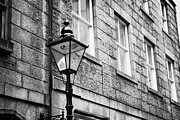 Overcast Day Photo Posters - Old Sugg Gas Street Lights Converted To Run On Electric Lighting Aberdeen Scotland Uk Poster by Joe Fox