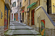 Steps Prints - Old town of Sanremo Print by Joana Kruse