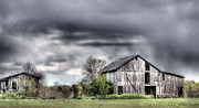 Wooden Barns Posters - Ominous  Poster by JC Findley