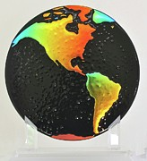 Sustain Glass Art - On Dark Days Look for Rainbows by Michelle Ferry