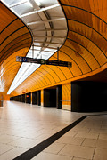 Martin Dzurjanik Art - Orange Subway Station by Martin Dzurjanik