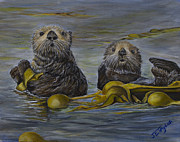 Otters Originals - 2 Otters by Joy Taylor