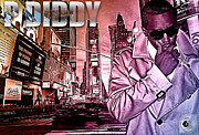 Photo Manipulation Mixed Media Posters - P Diddy Poster by The DigArtisT
