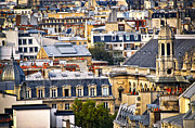 Old Houses Posters - Paris rooftops Poster by Elena Elisseeva