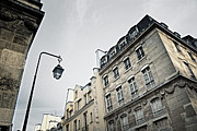 Streetlight Photo Framed Prints - Paris street Framed Print by Elena Elisseeva
