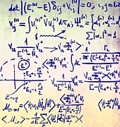 Whiteboard Art - Particle Physics Equations by Ria Novosti