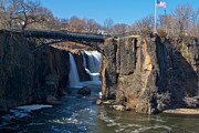 Passaic River Falls Photos - Paterson Falls by Mike Horvath
