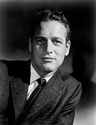 1950s Portraits Photo Metal Prints - Paul Newman Metal Print by Everett