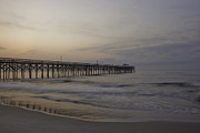Pawleys Island Prints - Pawleys Island Pier at Sunrise Print by Rachel Clinch