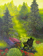 Lawn Chair Originals - Peaceful Garden by Bonnie Cook