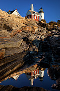 Pemaquid Lighthouse Art - Pemaquid Point Lighthouse by Brian Jannsen