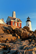 Maine Lighthouses Photo Posters - Pemaquid Point Lighthouse Poster by John Greim