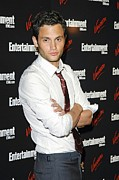White Shirt Prints - Penn Badgley At Arrivals Print by Everett