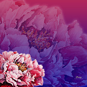 Popular Mixed Media - Peony by Zaira Dzhaubaeva