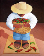 Mexican Framed Prints - Pepper Boy Framed Print by Lance Headlee