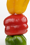 Poise Photo Prints - Peppers Print by Bernard Jaubert