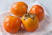 Persimmon Framed Prints - Persimmon Framed Print by Sabino Parente