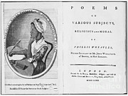 Frontispiece Prints - Phillis Wheatley, African-american Poet Print by Photo Researchers
