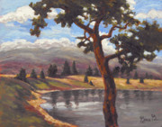 Impressionistic Landscape Paintings - Pinon View by Gina Grundemann