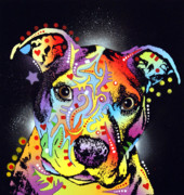 Pit Bull Mixed Media Metal Prints - Pitastic Metal Print by Dean Russo