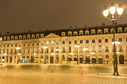 Frederic Chopin Art - Place Vendome by night by Fabrizio Ruggeri