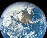 Satellite View Posters - Planet Earth Viewed From Space Poster by Stockbyte