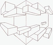 2-point Perspective Drawing Print by Gregory Dean