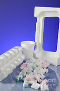 Egg-cup Photos - Polystyrene Objects by Photo Researchers