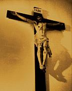 Jesus Crucifix Digital Art - Por Mis Pecados by Vilma Rohena