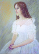 Fun Pastels Posters - Portrait Of Young Woman Poster by Masami Iida