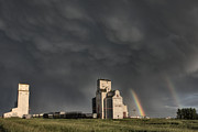 Alberta Landscape Framed Prints - Prairie Grain Elevator Framed Print by Mark Duffy