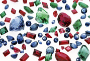 Valuable Metal Prints - Precious Gemstones Metal Print by Lawrence Lawry