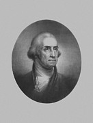 Presidential Portrait Framed Prints - President George Washington Framed Print by War Is Hell Store