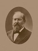 Us Presidents Framed Prints - President James Garfield Framed Print by War Is Hell Store